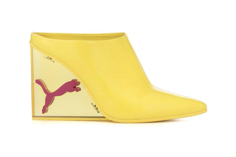 Fenty PUMA Rihanna Yellow Perspex Heel Mules Sandals