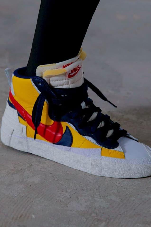 Sacai Nike Blazer Yellow Red Blue Spring/Summer 2019 Show Paris Fashion Week Men's