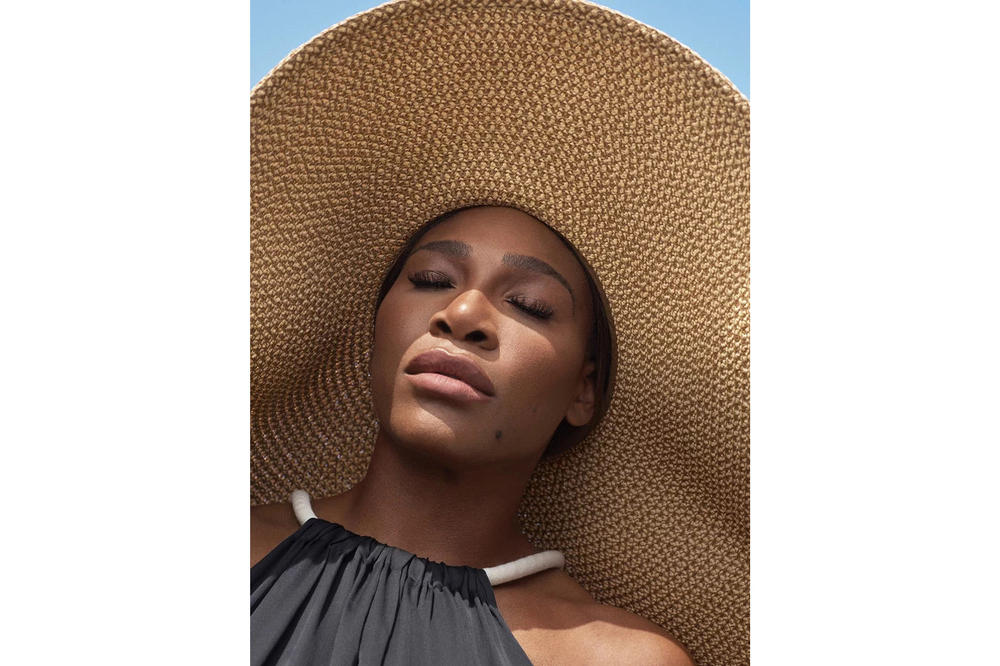 Serena Williams InStyle Magazine August 2018 Badass Woman Issue The Row Dress Eric Javitz Hat Black Tan
