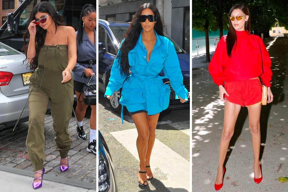 2166be57bf Sport Sunglasses Trend Kim Kardashian Kylie Jenner Bella Hadid Louis  Vuitton SS19 Runway Show