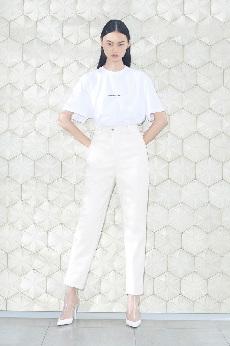 Stella McCartney Spring/Summer 2019 Collection Lookbook T-shirt Denim Pants Booties White Cream Clear