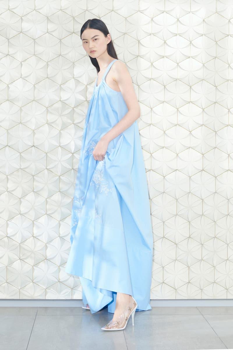 Stella McCartney Spring/Summer 2019 Collection Lookbook Long Sundress Heels Sky Blue Clear