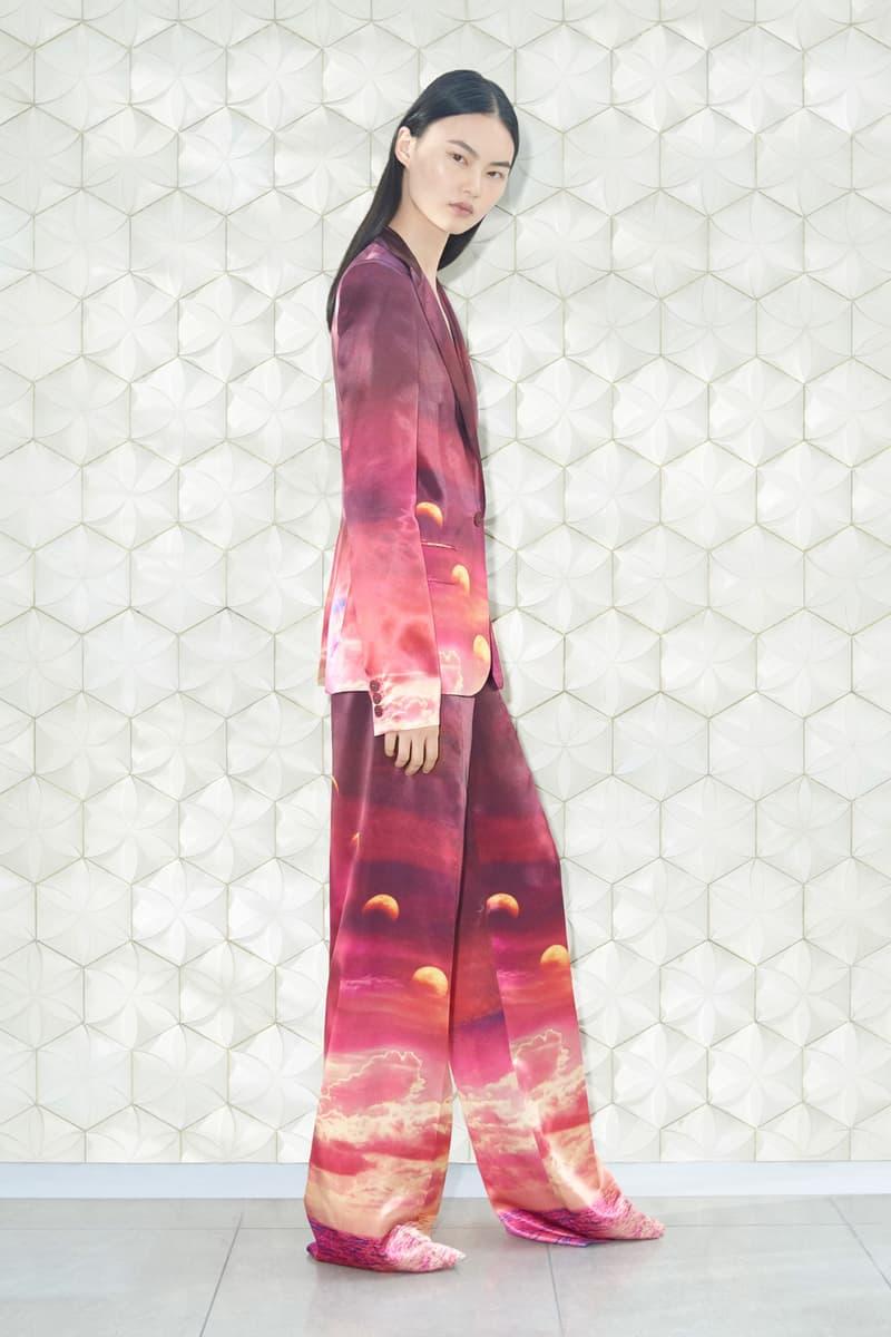 Stella McCartney Spring/Summer 2019 Collection Lookbook Blazer Oversized Trousers Red Magenta Cream
