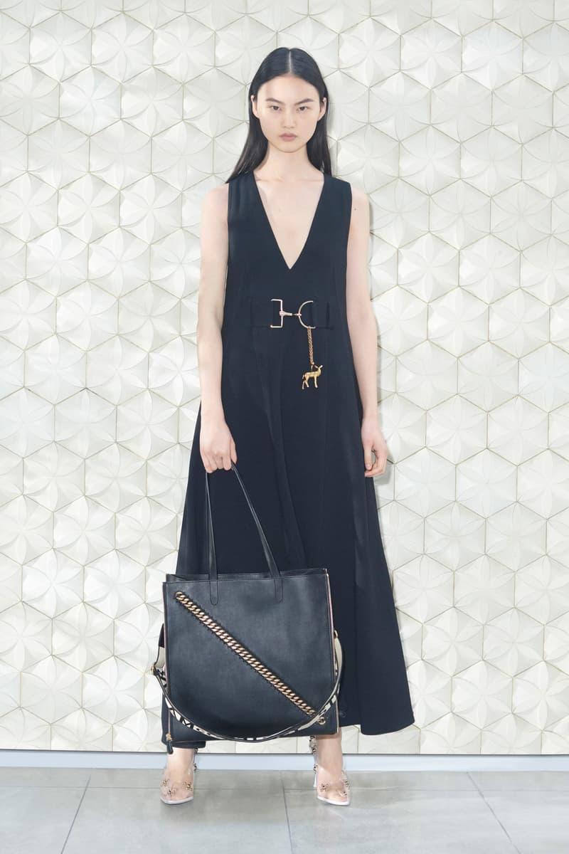 Stella McCartney Spring/Summer 2019 Collection Lookbook Long Dress Leather Handbag Black