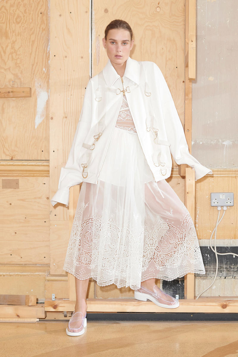 Stella McCartney Spring/Summer 2019 Collection Lookbook Blazer Lace Dress Loafers White