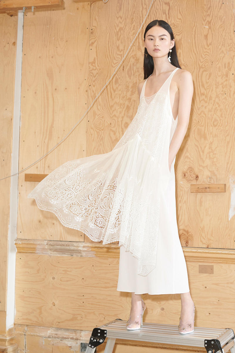 Stella McCartney Spring/Summer 2019 Collection Lookbook Lace Dress White