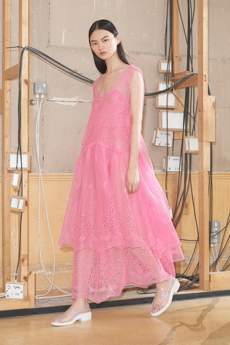 Stella McCartney Spring/Summer 2019 Collection Lookbook Lace Dress Pink