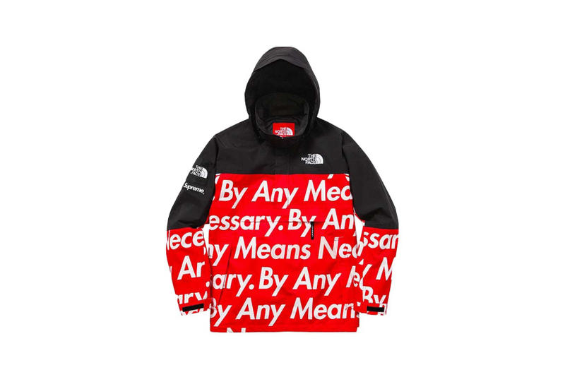 Supreme By Any Means Necessary Jacket Red Black