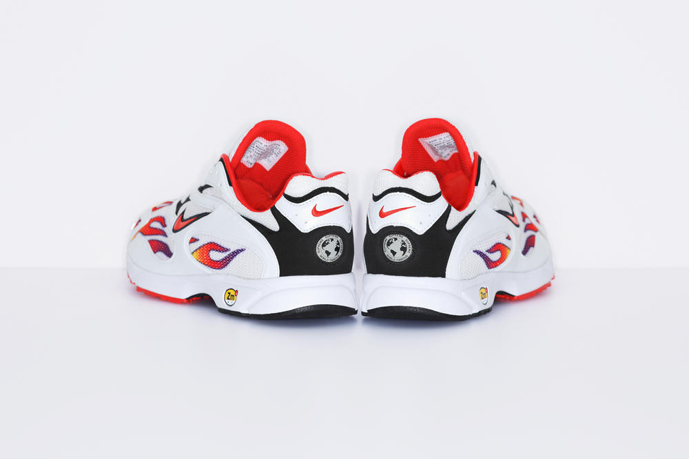Supreme Nike Air Streak Spectrum Plus Black White Flame Sneakers