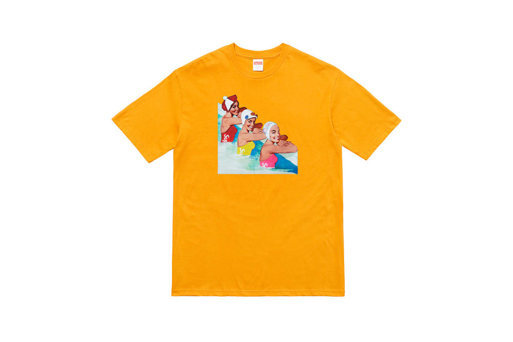 Supreme Summer 2018 T-Shirt Tees Collection Vintage Swimmers Yellow