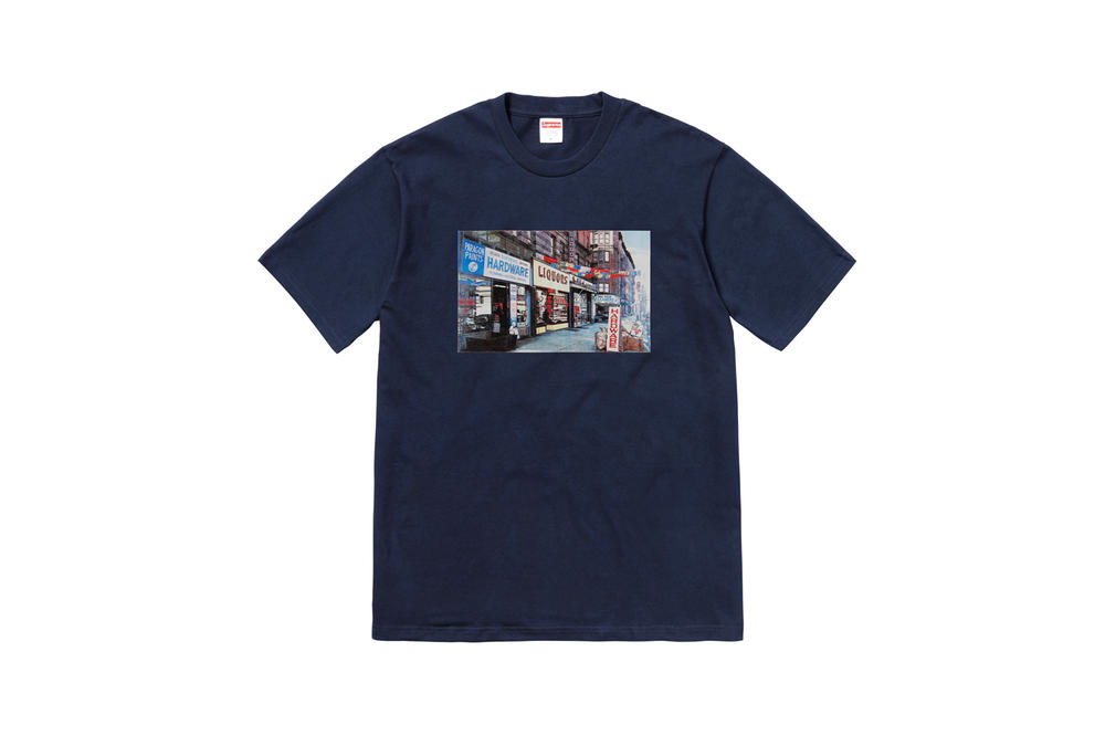 Supreme Summer 2018 T-Shirt Tees Collection Storefront Navy