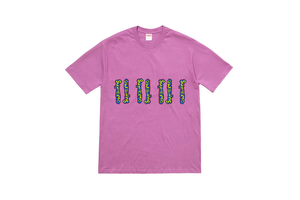 Supreme Summer 2018 T-Shirt Tees Collection Logo Pink Yellow Blue