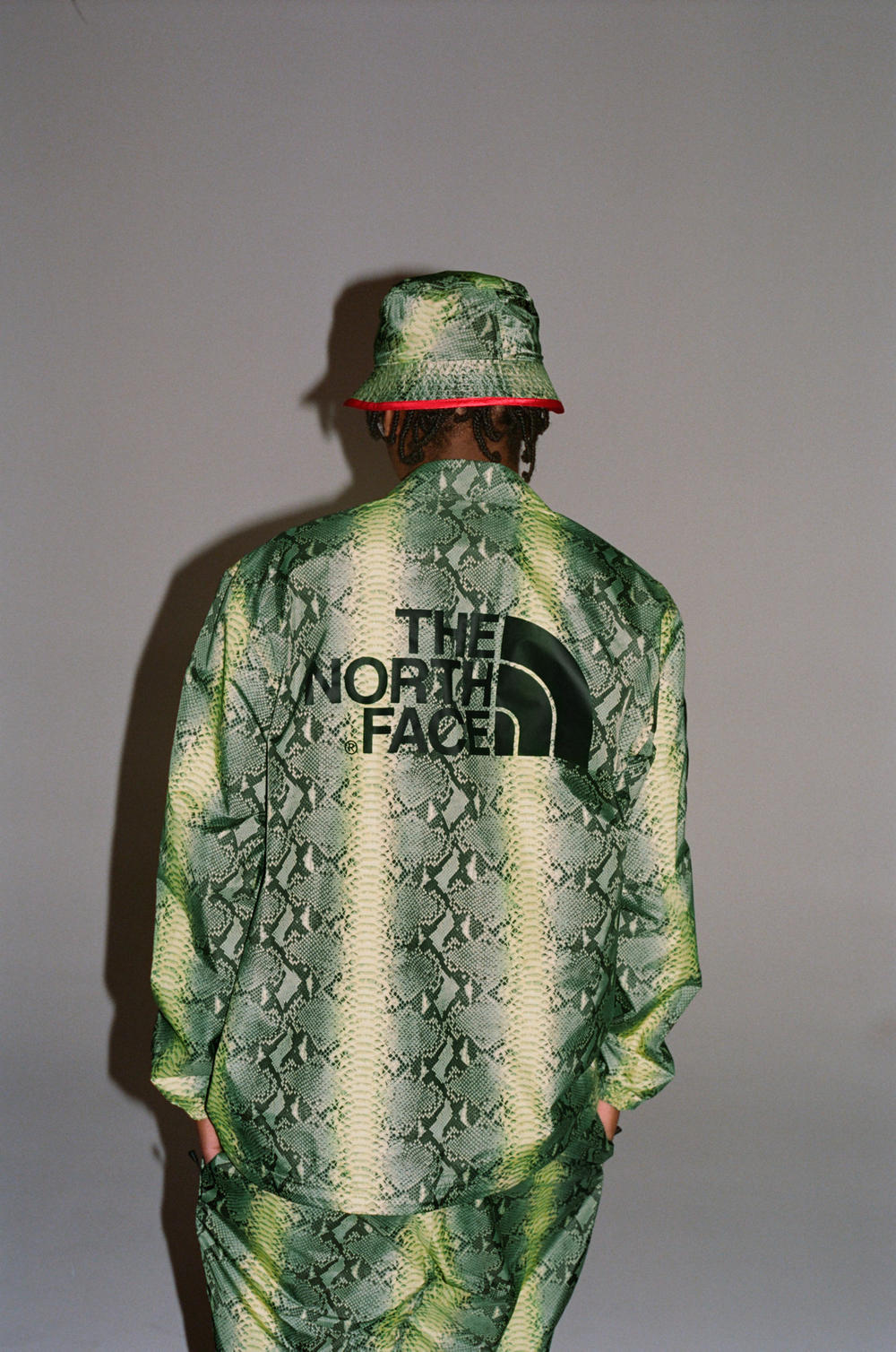Supreme x The North Face Green Snakeskin Print