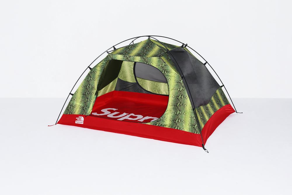 Supreme x The North Face Green Snakeskin Print Tent