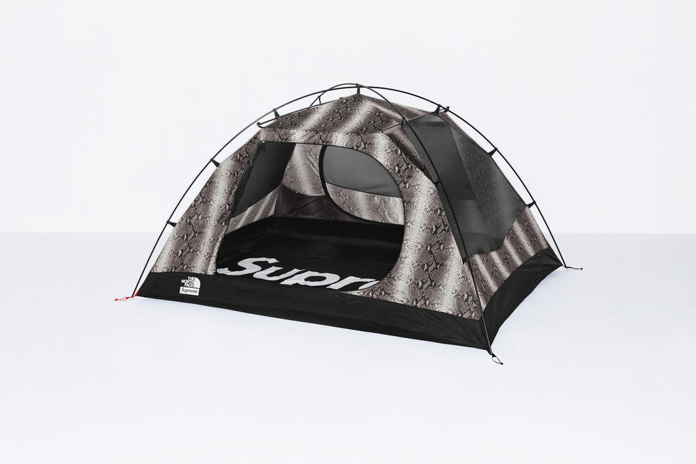 Supreme x The North Face Grey Snakeskin Print Tent