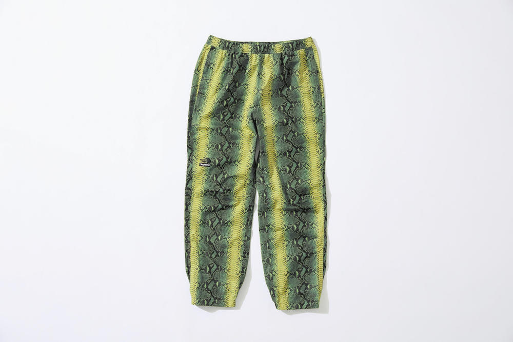 Supreme x The North Face Green Snakeskin Print Pants
