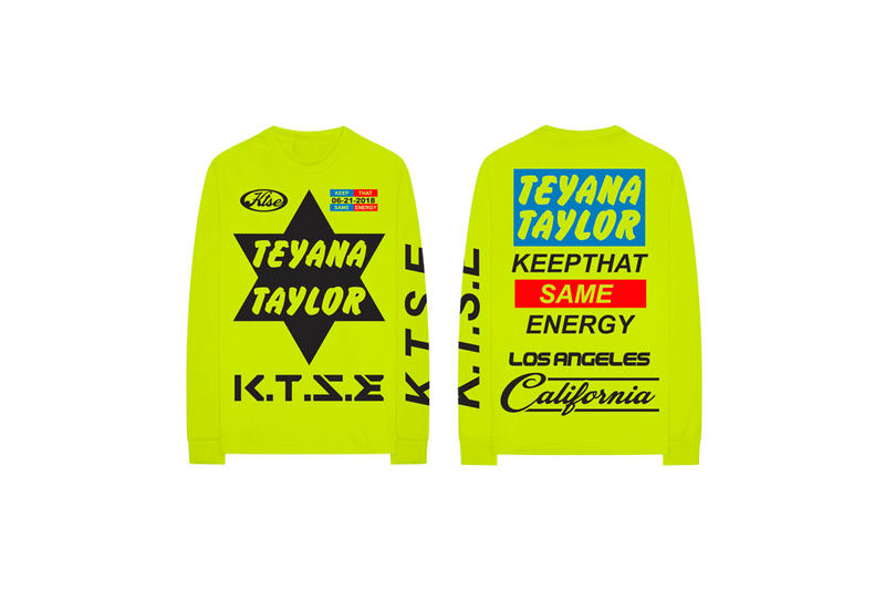 Teyana Taylor Keep That Same Energy Album Merch T-Shirt Lime Green