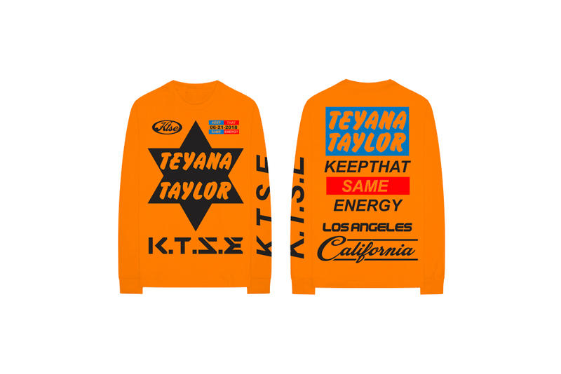 Teyana Taylor Keep That Same Energy Album Merch T-Shirt Orange