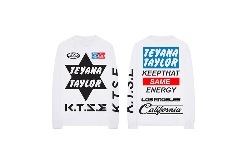 Teyana Taylor Keep That Same Energy Album Merch T-Shirt White
