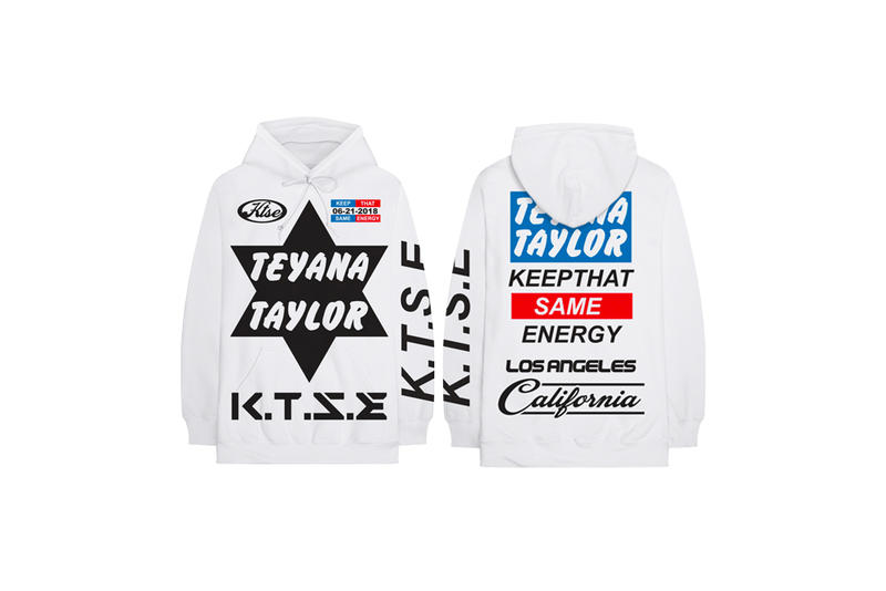 Teyana Taylor Keep That Same Energy Album Merch Hoodie White