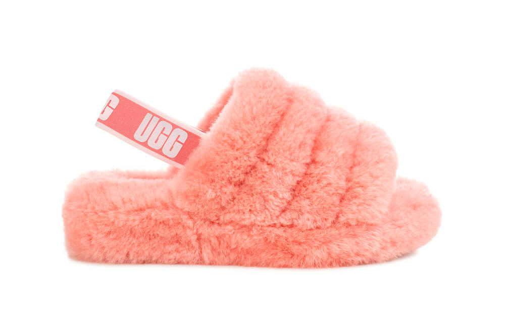 UGG Fluff Yeah Sandals Summer 2018 Seashell Pink Coral Lantana Black Charcoal Grey