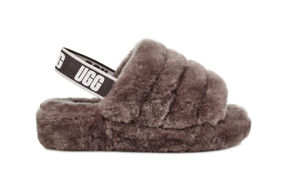 UGG Fluff Yeah Sandals Summer 2018 Seashell Pink Coral Lantana Black Charcoal Grey