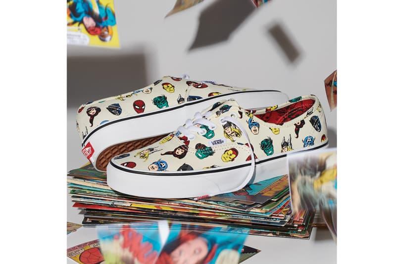 Vans Authentic Marvel The Avengers Collection Sneaker Print Superhero Pattern