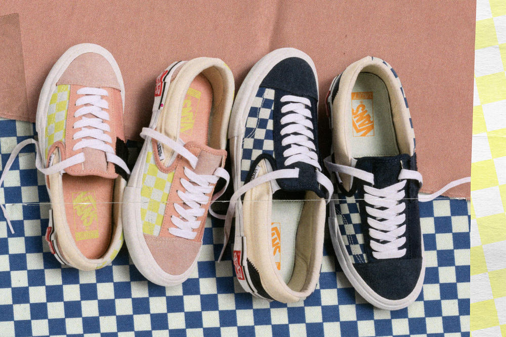 Vans Vault Authentic Inside Out Cap LX Pack Checkerboard Pink Yellow Blue White