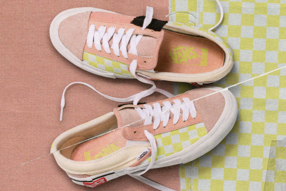 Vans Vault Authentic Inside Out Cap LX Pack Checkerboard Pink Yellow