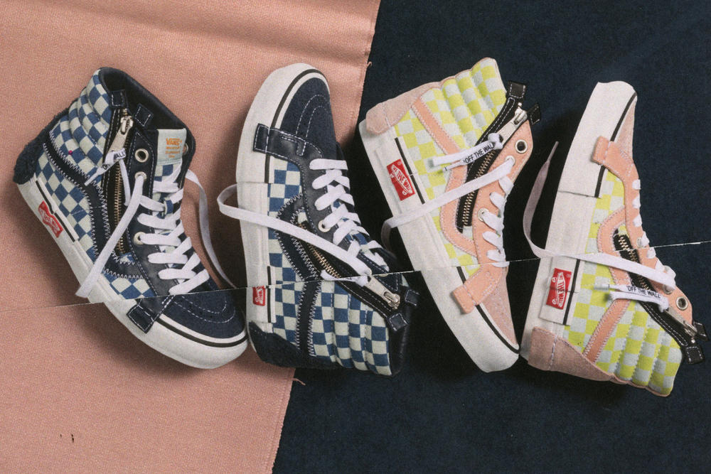 Vans Vault Sk8-Hi Inside Out Cap LX Pack Checkerboard Pink Yellow Black  White bca478a22