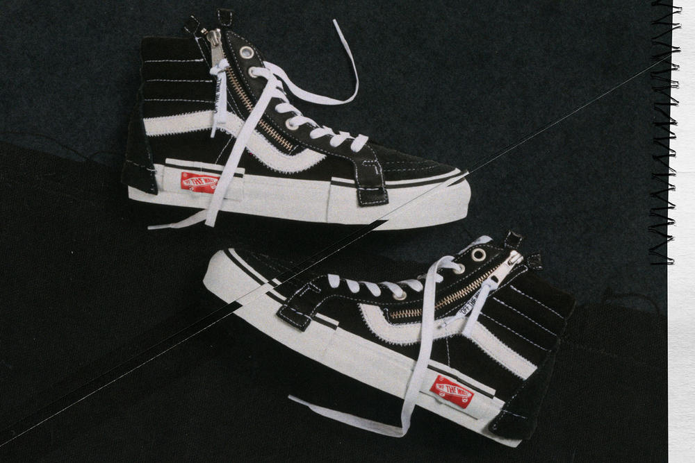 Vans Vault Sk8-Hi Inside Out Cap LX Pack Checkerboard Black White