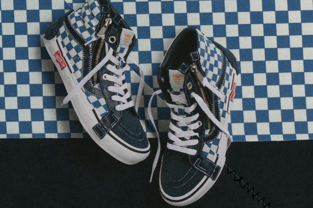 Vans Vault Sk8-Hi Inside Out Cap LX Pack Checkerboard Blue White