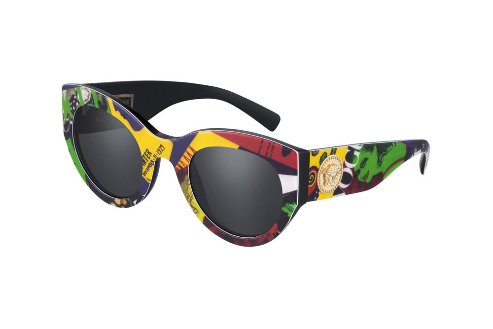 761925c5535 Versace Tribute Fall Winter 2018 Sunglasses Collection Oversized Black Red  Green Gold