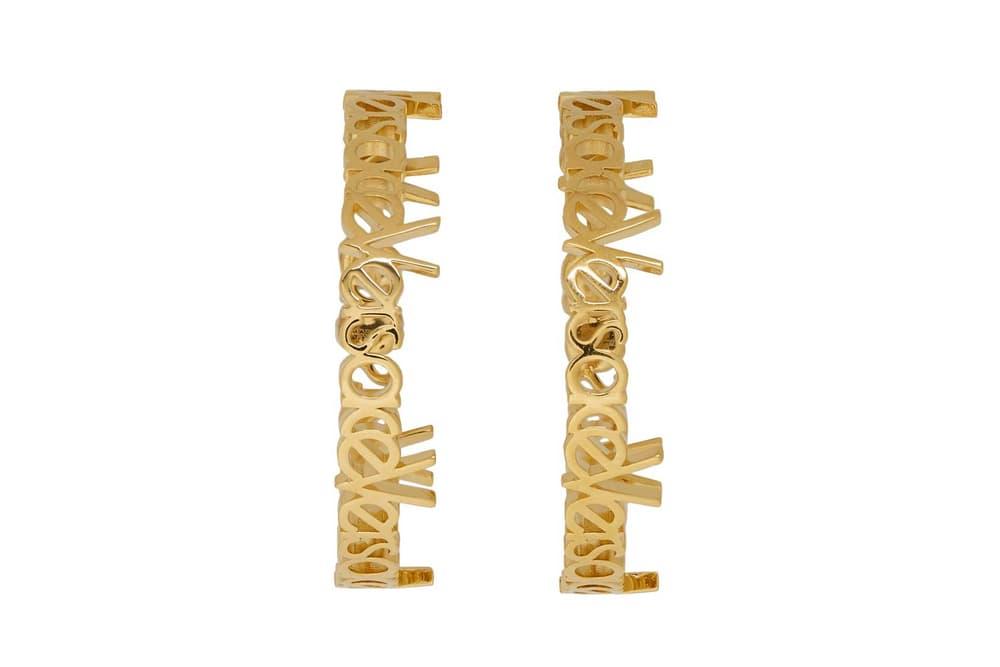 Versace Hoop Earrings Gold Large