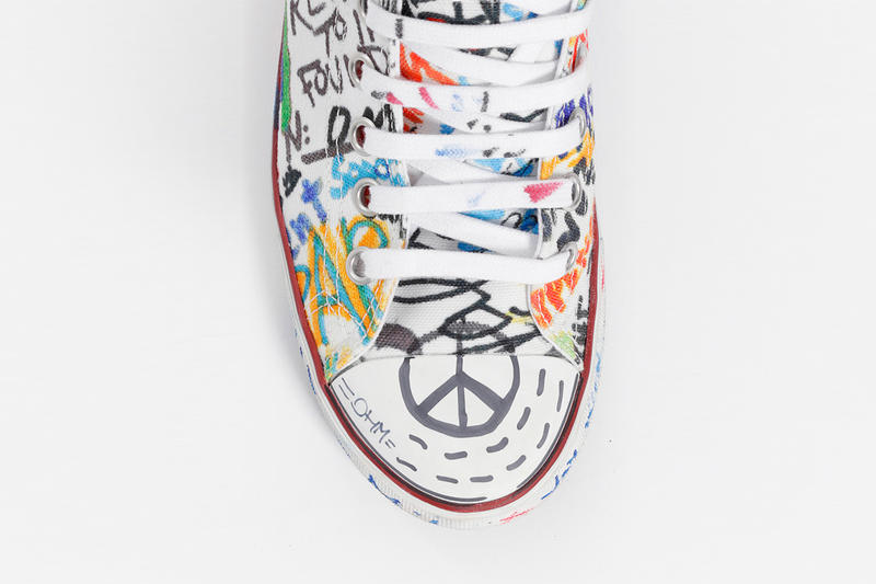 Vetements Graffiti Low Top Sneakers Fall Winter 2018 Black White