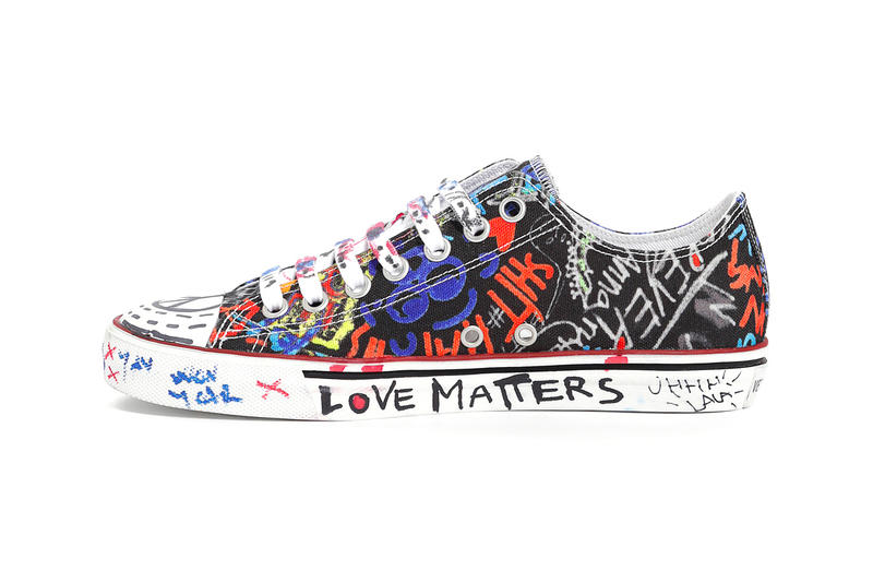 6817c355c998 Vetements Graffiti Low Top Sneakers Fall Winter 2018 Black White