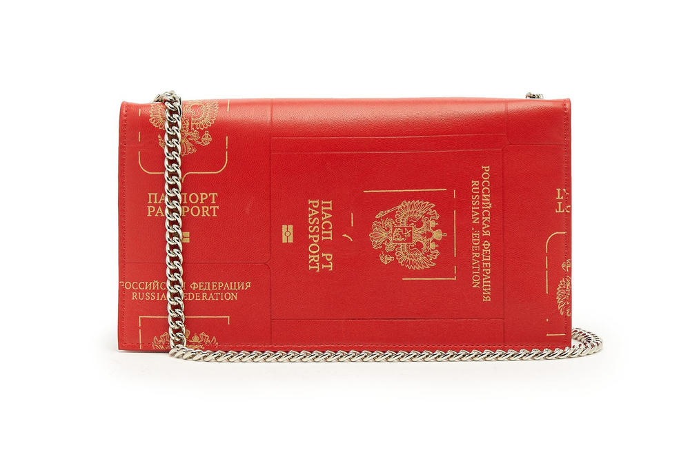 Vetements Red Russian Passport Bag