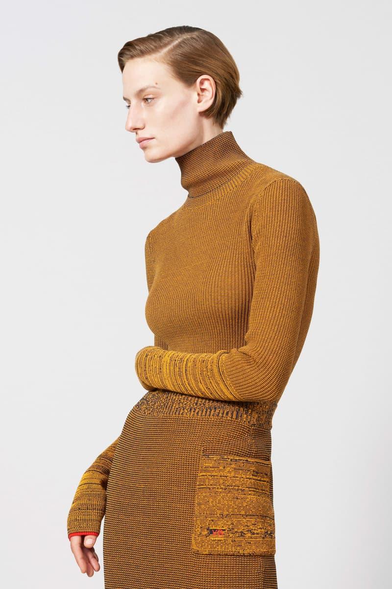 Victoria Beckham Resort 2019 Collection Lookbook Longsleeve Turtleneck Orange