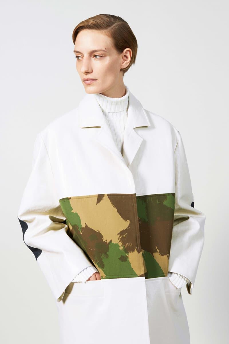 Victoria Beckham Resort 2019 Collection Lookbook Blazer Camouflage White