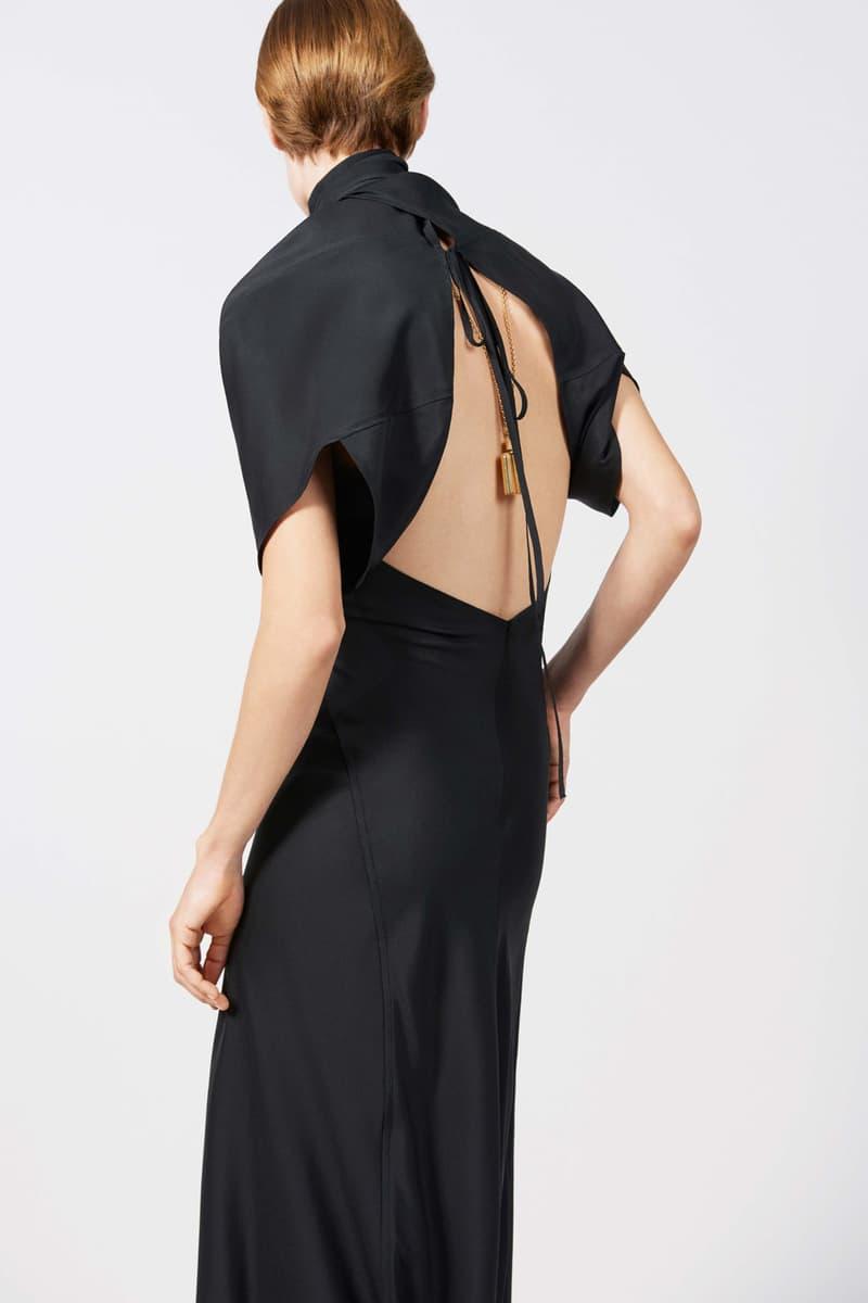 Victoria Beckham Resort 2019 Collection Lookbook Backless Lace-Up Dress Black Gold
