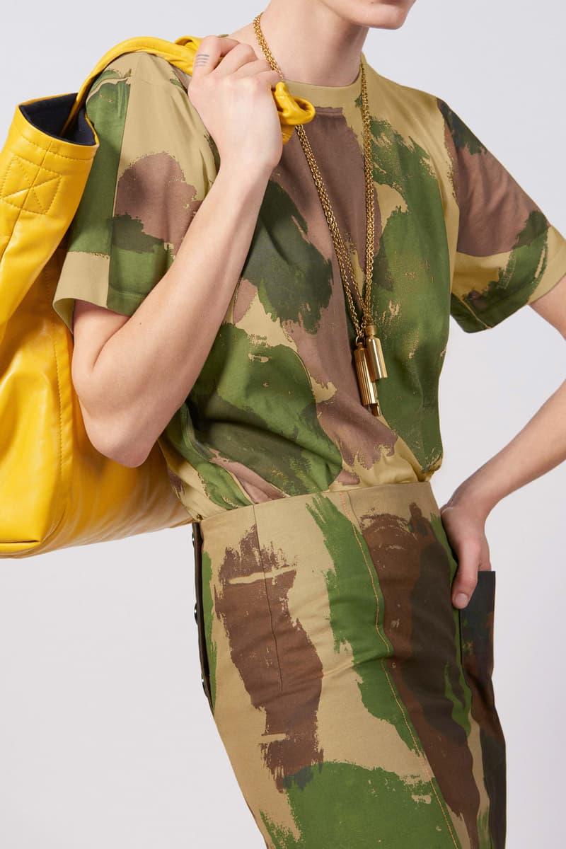 Victoria Beckham Resort 2019 Collection Lookbook Shirt Camouflage Bag Yellow