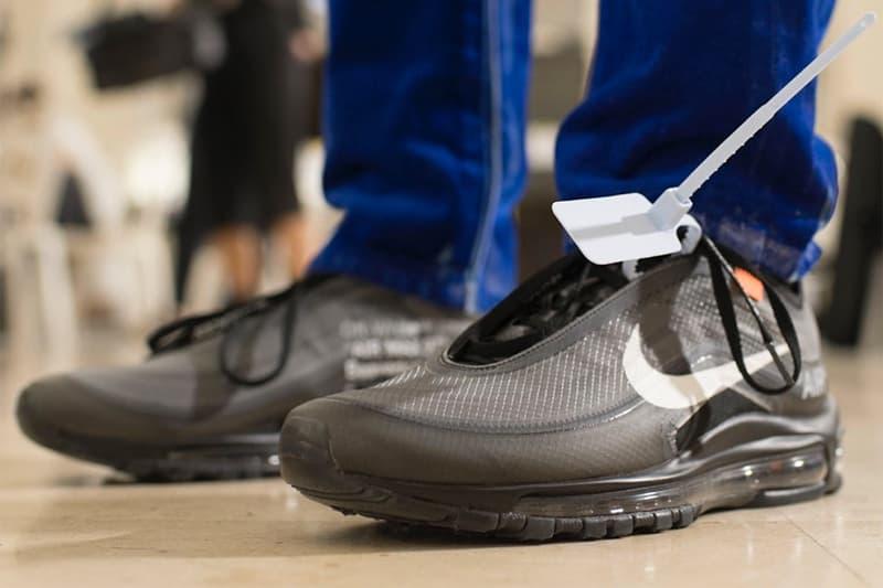 New Virgil Abloh x Nike Air Max 97 First Look Off-White Sneaker Paris Fashion Week Men's