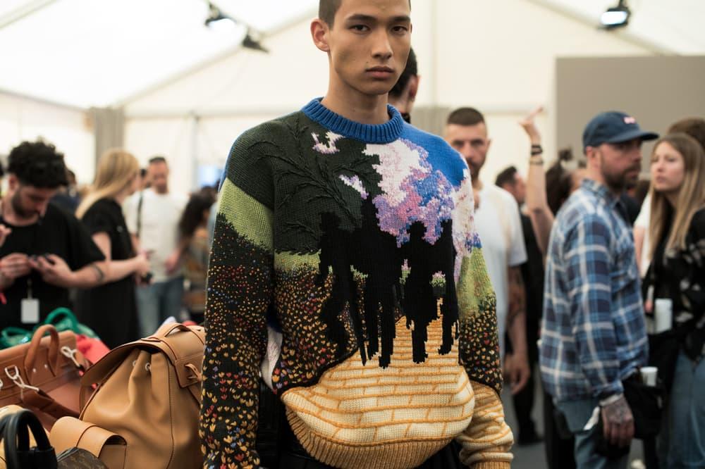 Louis Vuitton Men's Spring/Summer 2019 Show Paris Fashion Week Backstage Sweater Multicolored