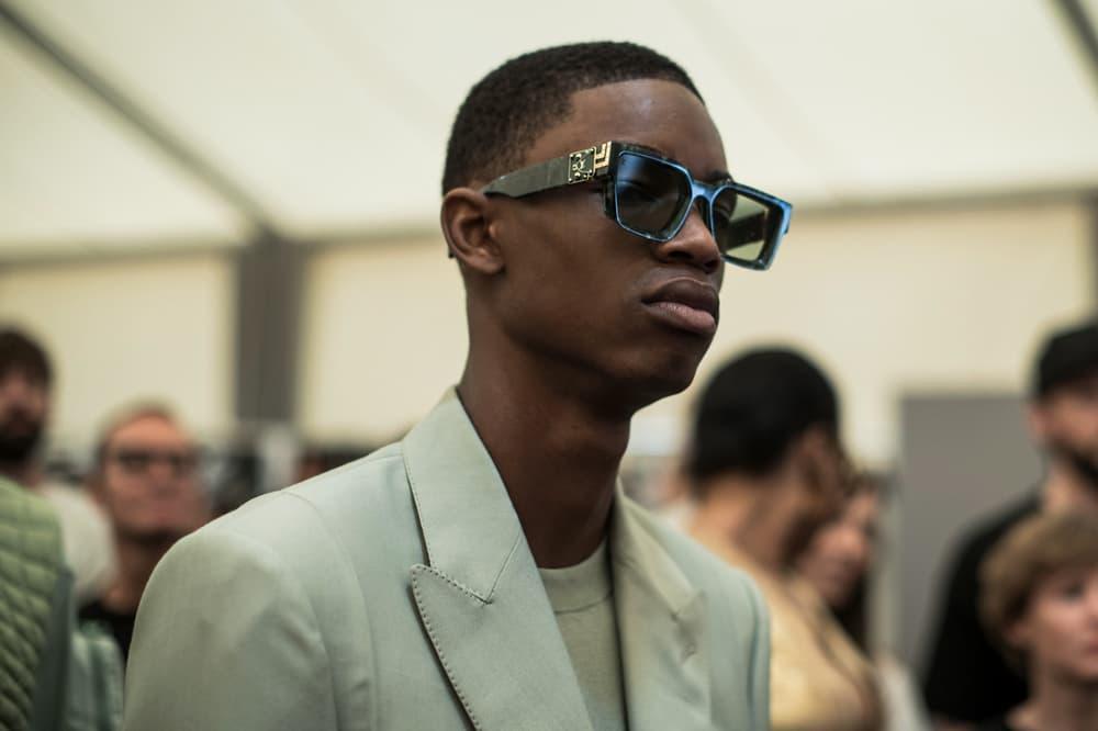 Louis Vuitton Men's Spring/Summer 2019 Show Paris Fashion Week Backstage 1.1 Millionaire Sunglasses Black