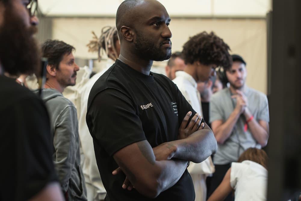 Louis Vuitton Men's Spring/Summer 2019 Show Paris Fashion Week Backstage Virgil Abloh T-shirt Black
