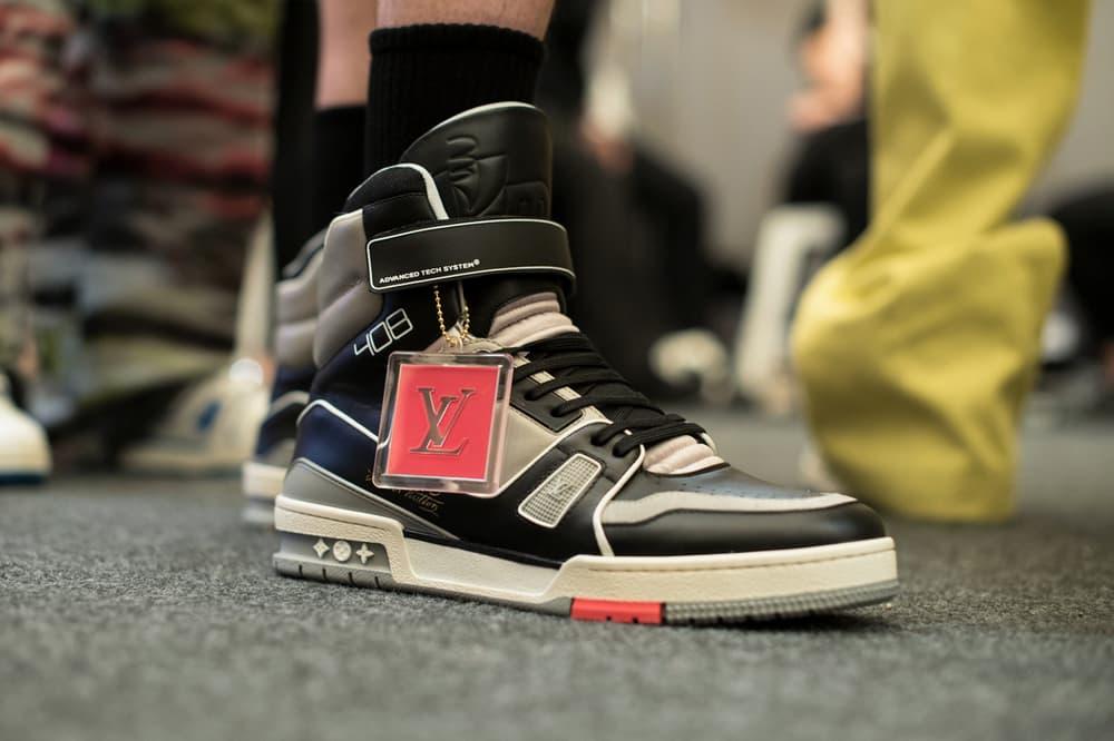 Louis Vuitton Men's Spring/Summer 2019 Show Paris Fashion Week Backstage Sneakers White Grey Black