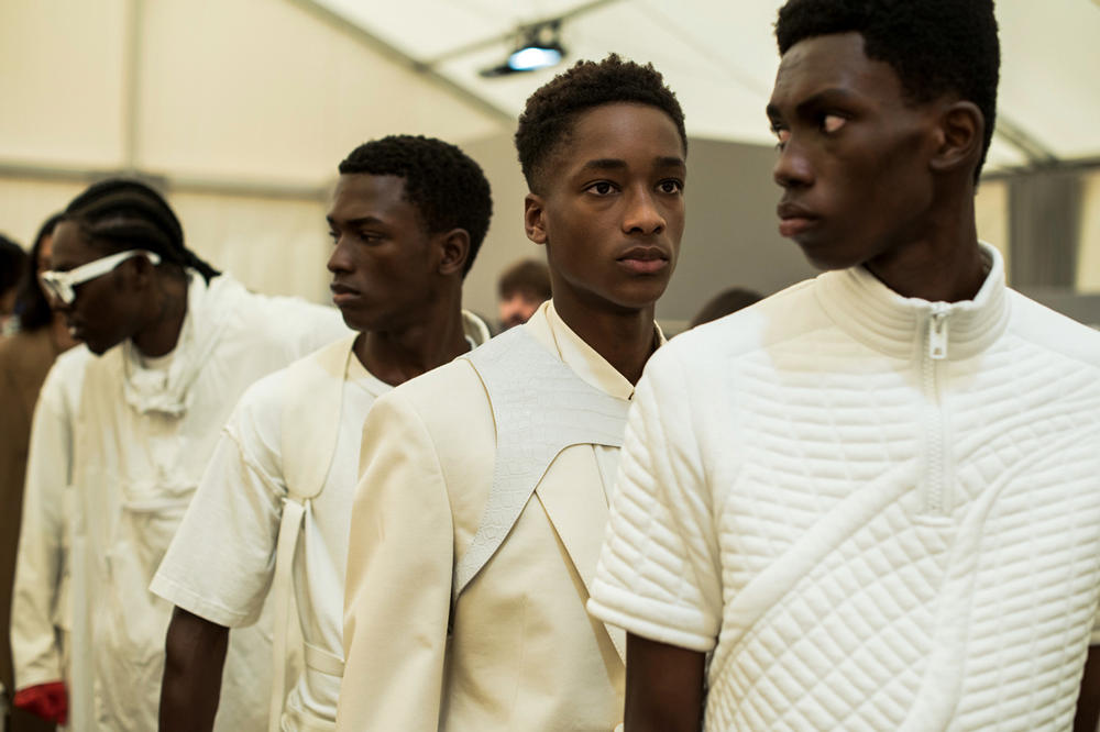 Louis Vuitton Men's Spring/Summer 2019 Show Paris Fashion Week Backstage Theophilus London Shirt Blazer White