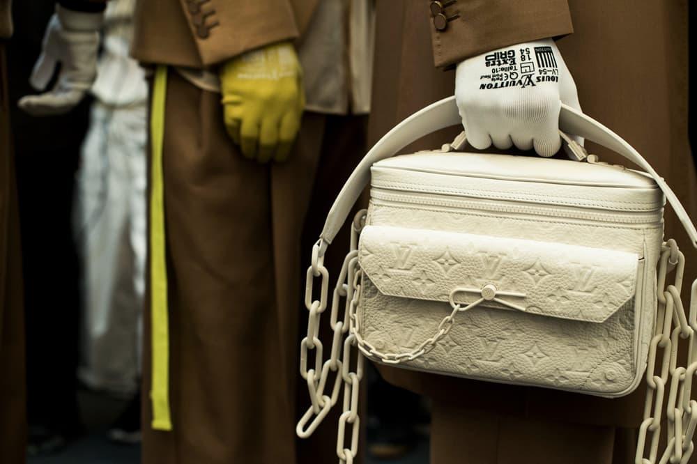Louis Vuitton Men's Spring/Summer 2019 Show Paris Fashion Week Backstage Logo Handbag White