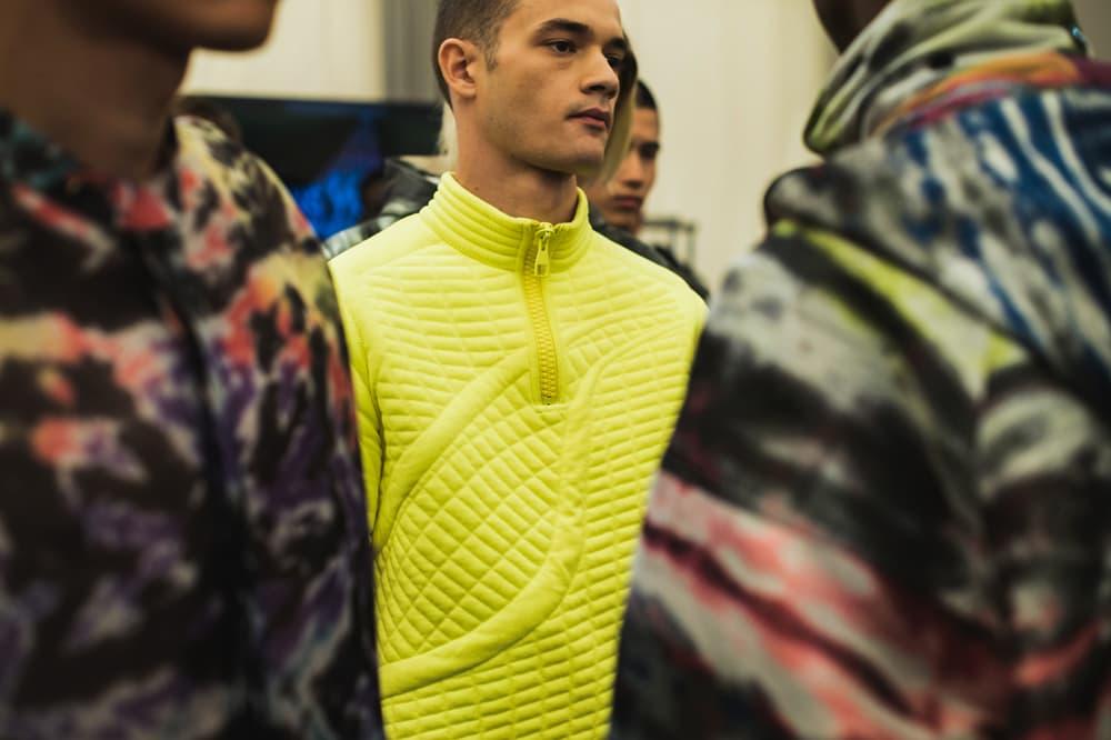 Louis Vuitton Men's Spring/Summer 2019 Show Paris Fashion Week Backstage Turtleneck Sweater Bright Green