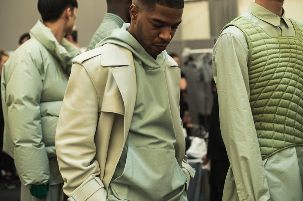 4a1d480430d5 Louis Vuitton Men s Spring Summer 2019 Show Paris Fashion Week Backstage  Kid Cudi Jacket Hoodie